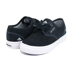 Emerica-Laced-By-034-Leo-Romero-034-Kids-Older-Boys-Youth-Skate-Shoes-Blue-Navy