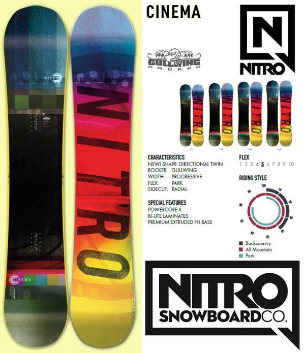 Placa snowboard baieti Nitro Cinema 2020 152 155 all mountain freestyle