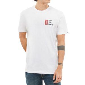 VANS Off The Wall III T-shirt white tricou baieti s alb