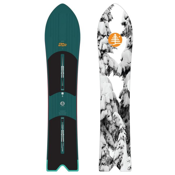 powder snowboard freeride Burton Family Tree Skipjack Surf 148